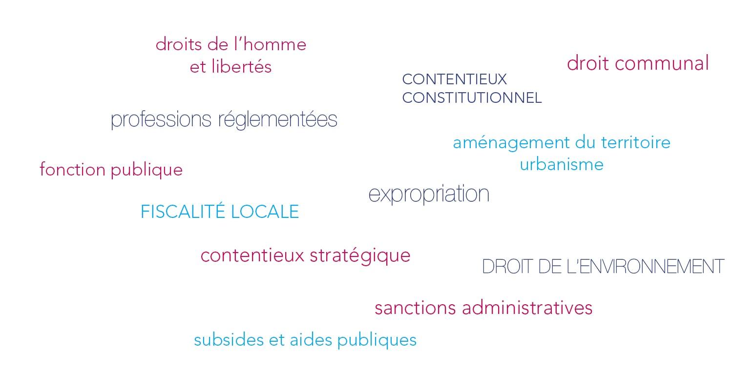 Domaines d'intervention du cabinet